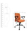 Tango Medium Back Ergonomic Chair in Orange by Starshine