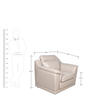 Tantor One Seater Sofa in Mushroom Colour by HomeTown