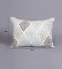 Tasar Multicolour Silk 12 x 16 Inch Geometric Cushion Cover