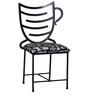 Talon Black Color Iron Chair by Bohemiana