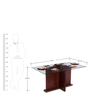 Tasman Six Seater Dining Table in Red Colour by Durian