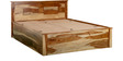 Morton Queen Bed with Storage in Natural Sheesham Wood Finish by Woodsworth