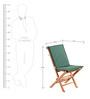 Teakwood Chair With Green Cushion by Royal Oak