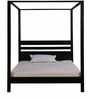 Illinois King Size Poster Bed In Espresso Walnut Finish by Woodsworth