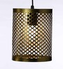 Channar Ceiling Lamp in Gold by Bohemiana
