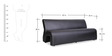 Three Seater Sofa in Black Colour by Durian