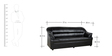 Three Seater Sofa in Black Colour by Parin