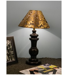 The Lamp Store Black & Gold Poly Cotton Lamp Shade - 1492799