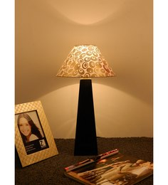 The Lamp Store Gold Poly Cotton Facinating Table Lamp