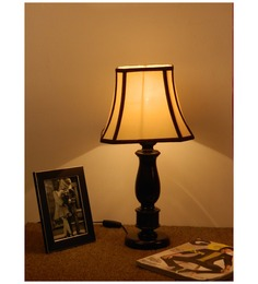 The Lamp Store Off White Poly Cotton Table Lamp - 1492527