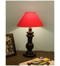 The Lamp Store Red Poly Cotton Table Lamp - 1492536