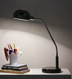 The Light Store Black Mild Steel Study Lamp - 1585551