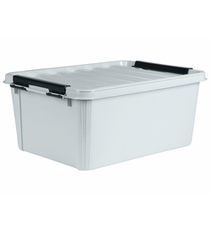 The Quirk Box Multipurpose Plastic Grey 20 L Storage Box With Lid