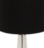 The 7th Galaxy Black Chrome Finish Crystal & Parchment Table Lamp