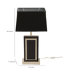 The 7th Galaxy Contemporary Black Metal & Parchment Table Lamp