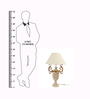 The 7th Galaxy Off-white Ivory Finish Wooden & Fabric Pleated Shade Table Lamp