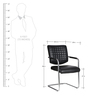 (Free Kid Chair)The Aleman Metal Chair in Black color by VJ Interior