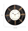 Adorian Wall Clock in Black & Bronze by Amberville