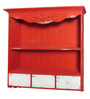 Tailer Colonial Wall Shelf in Red by Amberville