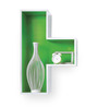 Wellesley Contemporary Wall Shelves Set of 5 in Multicolor by CasaCraft