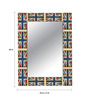 Juan Decorative Mirror in Blue by CasaCraft