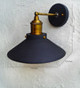 The Black Steel Black & Gold Iron Wall Lamp
