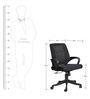 The Costilla Medium Back Task Chair in Black color by VJ Interior