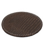 The Decor Mart Rust Faux Leather Coasters - Set of 6