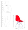 The Entenza Replica Chair in Red Finish by HomeHQ