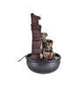 The Exclusive Deco Brown Resin Radiant Electric Operated Indoor Fountain