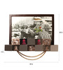 The Frame Address Black Wood & Steel Mother of Pearl 24 x 35 Inch Picture Frame