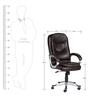 The Helado Executive High Back Chair Brown color by VJ Interior