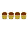 The Himalayan Goods Company Yellow Ceramic Stoneware 160 ML Tea Tumbler - Set of 4