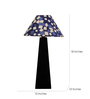 The Lamp Store Blue Poly Cotton Facinating Table Lamp