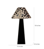 The Lamp Store Grey Poly Cotton Facinating Table Lamp