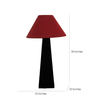 The Lamp Store Maroon Poly Cotton Facinating Table Lamp