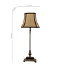The Lamp Store Off White Poly Cotton Table Lamp