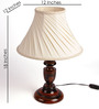 The Light House offwhite pleated Table Lamp