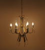 TLS by Kapoor Lampshades Antique Brass Brass & Crystal Chandelier