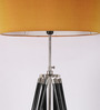 TLS by Kapoor Lampshades Wood & Steel Tripod Lamp