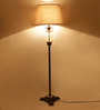 TLS by Kapoor Lampshades Brass Floor Lamp