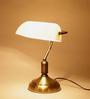 The Light Store White Glass Study Lamp