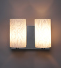 The Light Store White Iron & Glass Wall Light