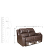 The Look Manual Two Seater Recliner in Dark Brown Colour by Sofab