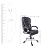 (Free Kid Chair)The Masculino High Back In Black Colour in Black Color By VJ Interior