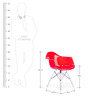 The Meyer Replica Chair in Red Finish by HomeHQ