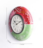 The Mikky Shoppe Station Multicolour Mango Wood & MDF 11 x 2 x 11 Inch Wall Clock