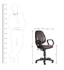 The Moreno Medium Back Task Chair in Brown color by VJ Interior
