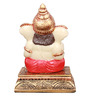 The Nodding Head Multicolor Polyresin Ganesh Sitting with Modak Statue