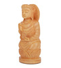 The Nodding Head Brown Wood Blessing Buddha Showpiece